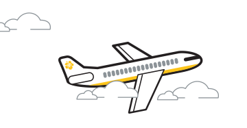 cartoon air plane